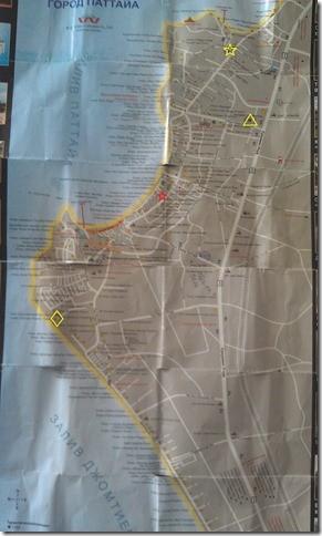 Карта Паттайи. Повторять не рекомендуется;)